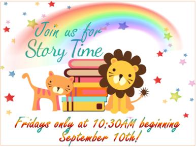 Storytimes return in September!